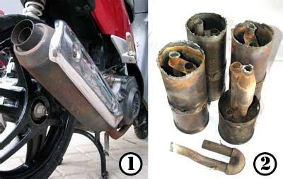Knalpot Racing Bobokan Model Standar Untuk Honda Beat Lama Karbu Crome modifikasi knalpot standar menjadi model racing
