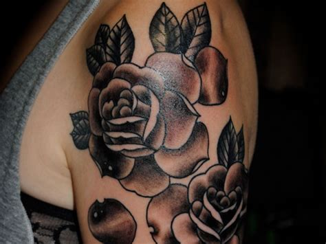 black rose tattoos designs ideas and meaning tattoos