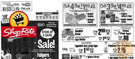shoprite printable shopping list shoprite preview ad for the week of 1 8 17living rich with
