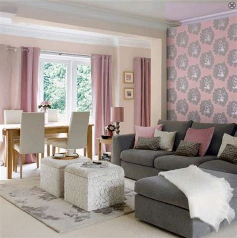 pink and grey living room to the windows to the walls