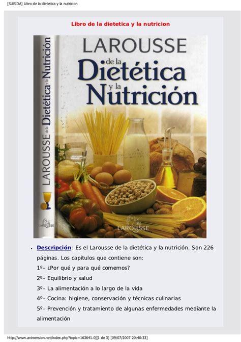 Libro De La Dietetica Y La Nutricion