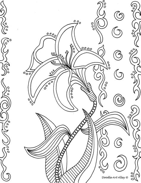 doodle alley flowers flower coloring pages doodle alley