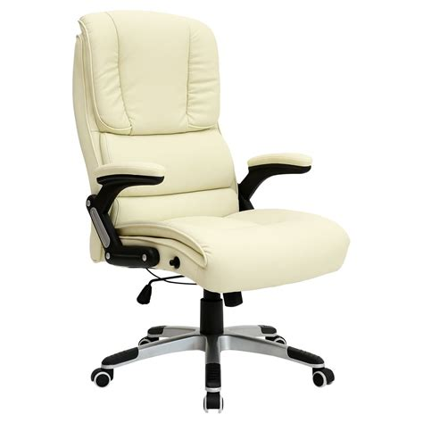 comfortable swivel chairs santiago comfortable faux leather office swivel