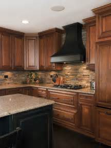 Pictures Of Backsplashes In Kitchens by Kitchen Stone Backsplash My House My Homemy House My Home