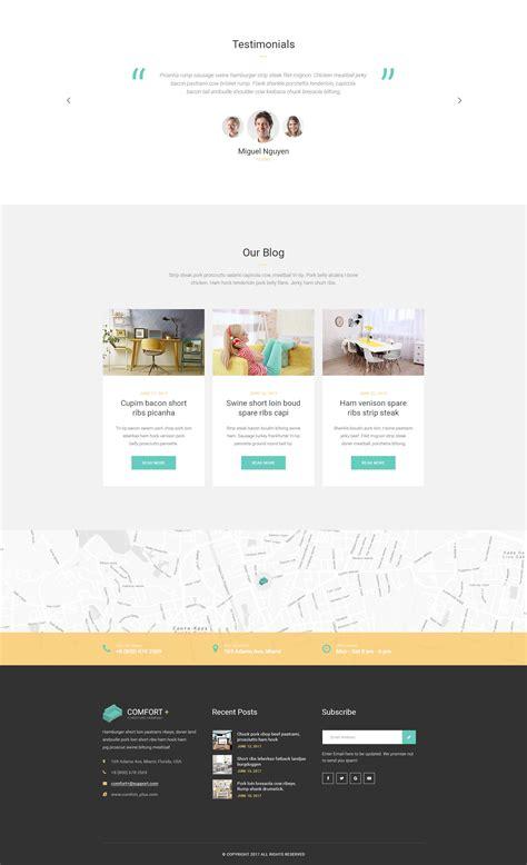 Comfort Furniture Manufacturing Wordpress Theme Modern Web Templates Free Manufacturing Website Templates