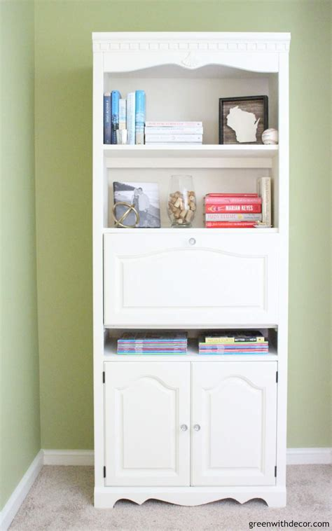 spray paint bookshelf green with decor how to paint a bookshelf spray or