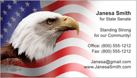 Patriotic Business Cards Candidate Information Cards Free Patriotic Business Card Templates