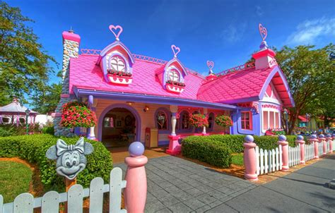 disney house minnies home pink image 102266 on