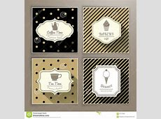 Set Of Vintage Labels Coffee Bakery Tea And Dessert Stock ... Ice Cream Cone Vector
