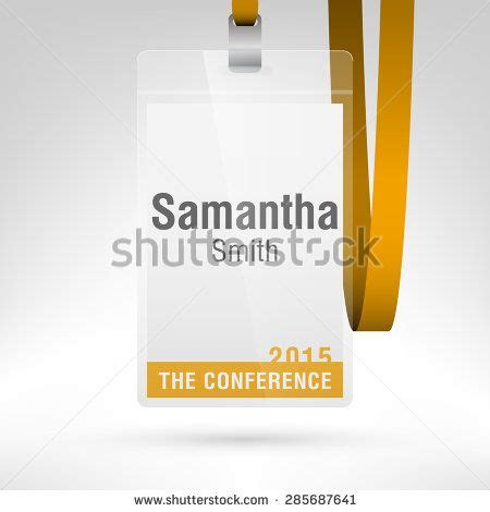 Convention Name Card Holder Template by Conference Badge With Name Tag Placeholder Blank Badge