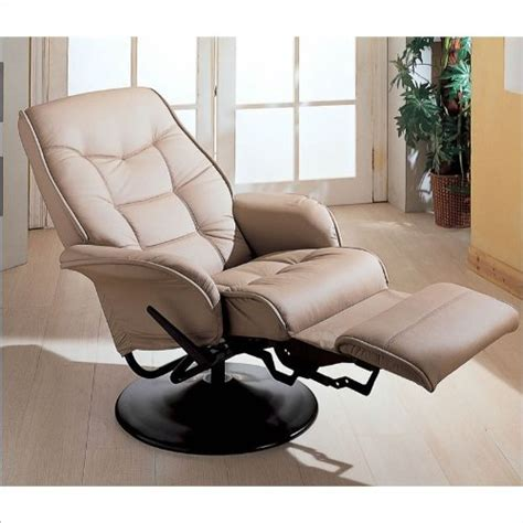 Best Deals On Recliners by Conroy Leatherette Swivel Recliner In Bone Best Deals Toys