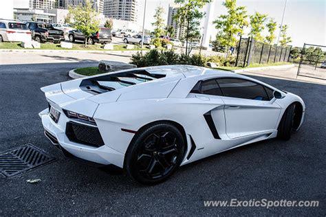 Lamborghini In Toronto Lamborghini Aventador Spotted In Toronto Canada On 09 14 2013