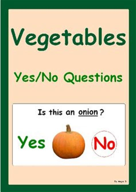 vegetables questions 17 best images about yes no question activities on