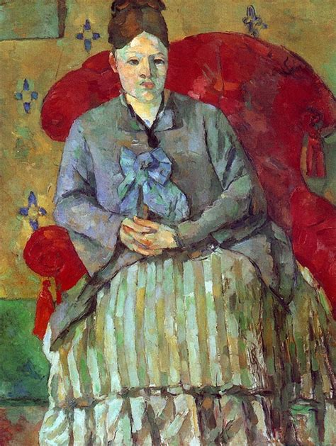 madame cezanne in a red armchair 132 best images about art history on pinterest oil on