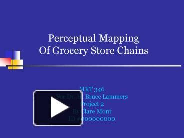 ppt perceptual mapping of grocery store chains