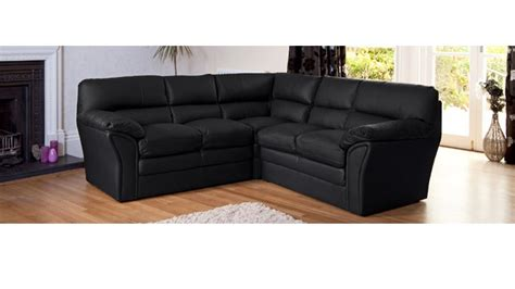 Corner Leather Sofas Uk Black Leather Corner Sofa Homegenies