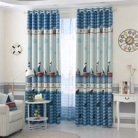 nautical bedroom curtains blue nautical dreamy window curtains for boys bedroom
