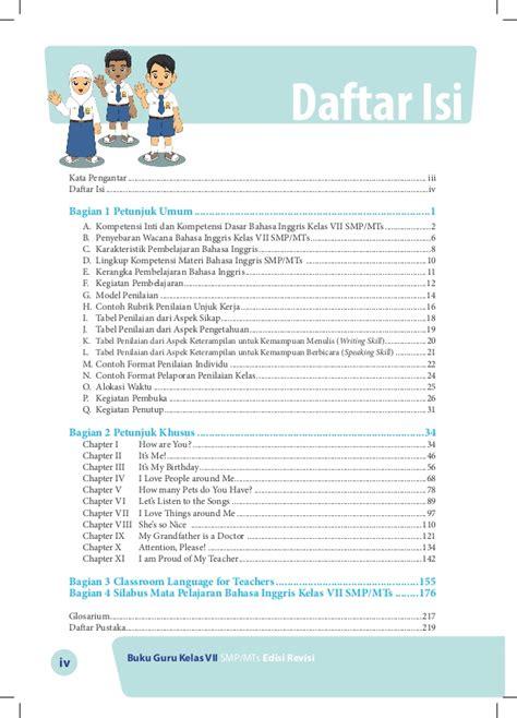 Buku Belajar Bahasa Inggris Kelas 4 buku guru bahasa inggris kelas vii smp kurikulum 2013