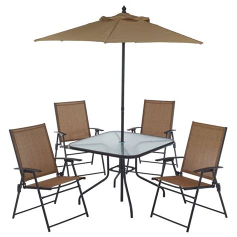 Folding Patio Furniture Sets Mosaic 6 Folding Patio Set Academy