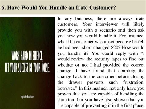 top 10 service cashier questions and answers