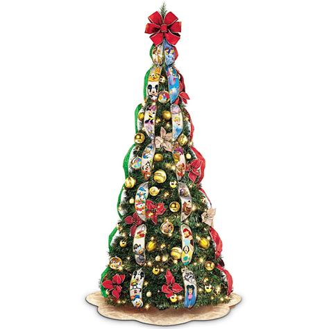 disney pop up fully decorated lighted christmas tree