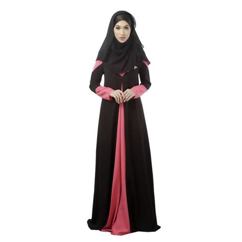 Dress Muslim Maxi Dress Wanita Annita Maxi fashion kaftan abaya jilbab islamic muslim sleeve vintage maxi dress in dresses from