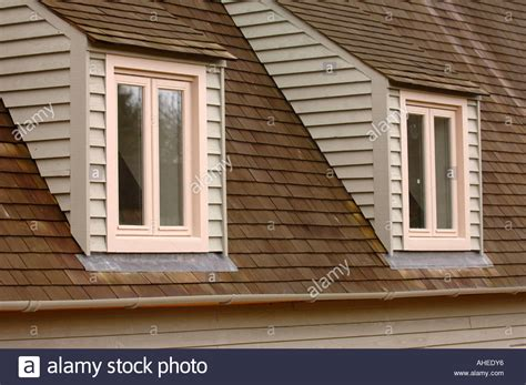 dormer windows two dormer windows on a timber framed house uk stock photo