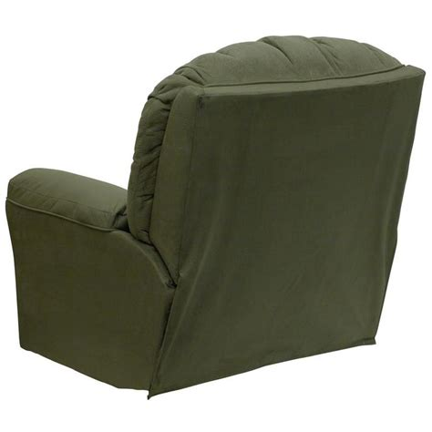stylish rocker recliner microfiber contemporary styling rocker recliner sage