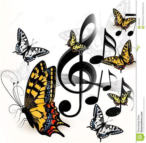 imagenes artisticas surrealistas de musica fondo di musica con spazio per testo e le farfalle