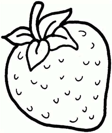 Strawberry Outline Drawing by Cupcake Outline Cliparts Co