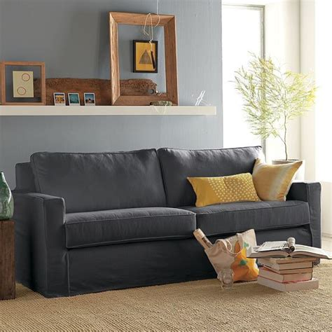 Modern Slipcovered Sofa Henry Slipcovered Sofa Modern Sofas By West Elm