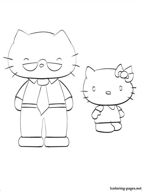 kitty   father  coloring coloring pages