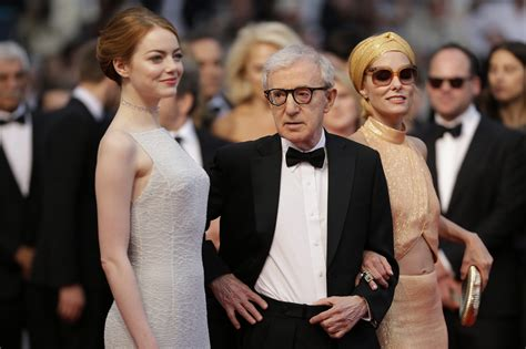 emma stone woody allen woody allen emma stone walk cannes red carpet for