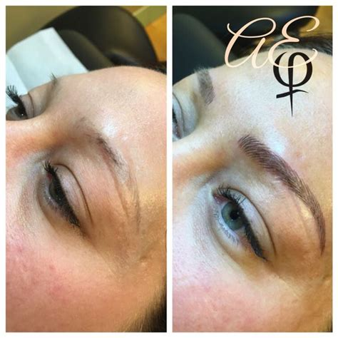 tattoo eyebrows for alopecia before and after microblading by artist alana everett