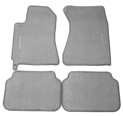 2003 2005 subaru forester carpeted floor mats gray w