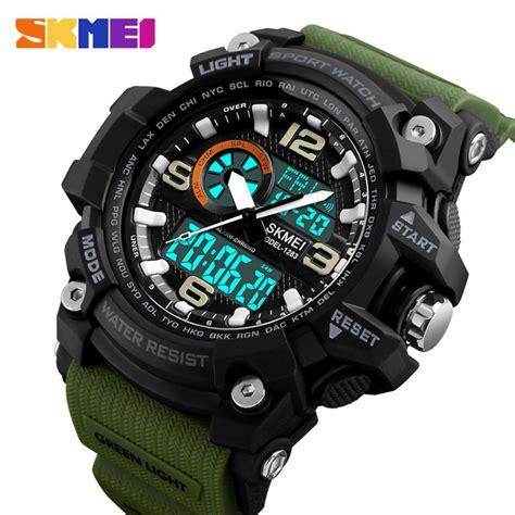 Skmei Jam Tangan Digital Analog Pria 1283 skmei jam tangan digital analog pria 1283 army green jakartanotebook