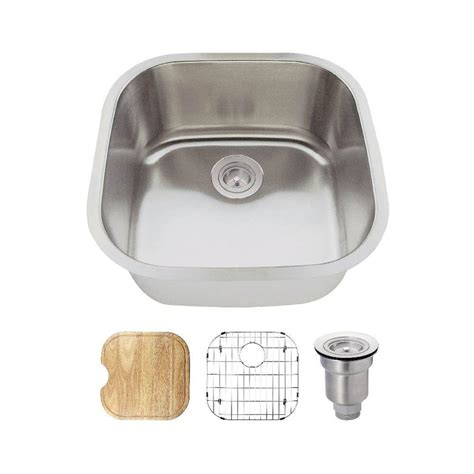 very small kitchen sinks mr direct all in one undermount stainless steel 20 in