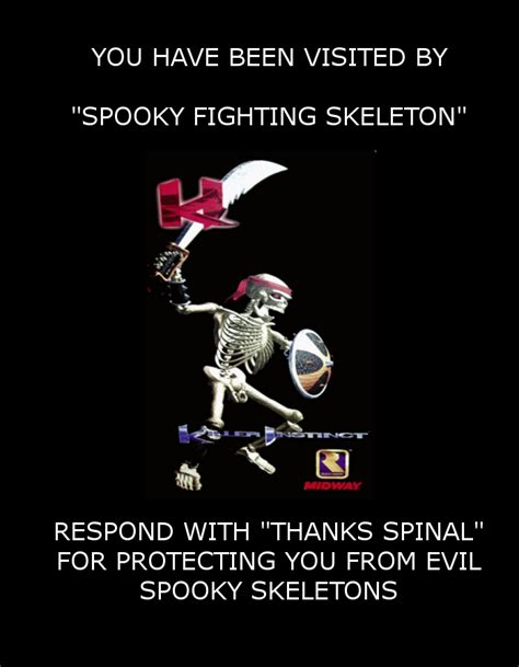 Spooky Scary Skeletons Meme - spooky fighting skeleton if you see this image while
