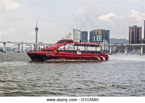 jet boat hong kong china hong kong hong kong to macau water jet boat stock