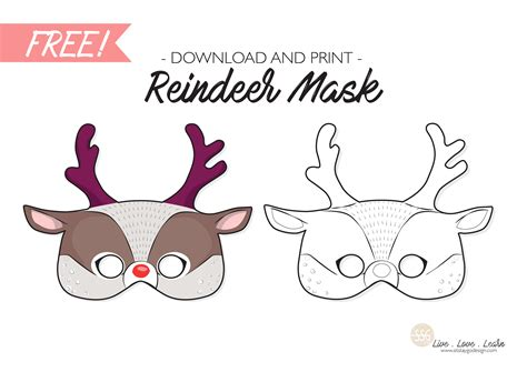 printable reindeer mask sit stay go free reindeer mask printable sit stay go