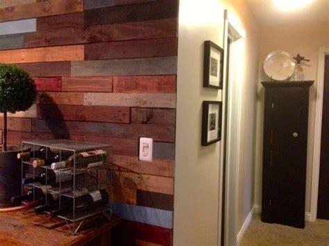 hometalk kitchen  pallet wall finally finished