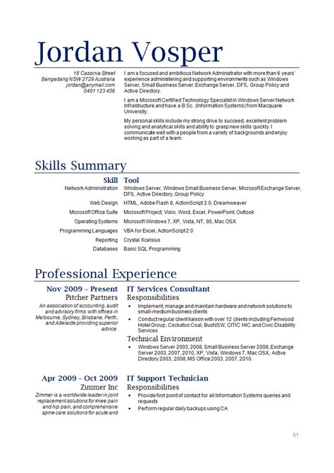It Resume Templates by Gg S Top Tips For Finding Work In Australia The