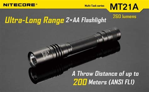 Nitecore Mt21a Senter Led Cree Xp E2 260 Lumens tactical flashlight nitecore mt21a the best mini flashlight outdoor
