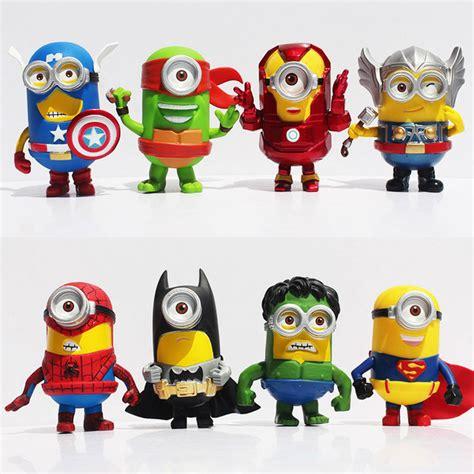 Ho4083 Patung Animation Mini Despicable Me Set despicable me 3 minions figures 9cm minion figure doll birthday 8pcs set