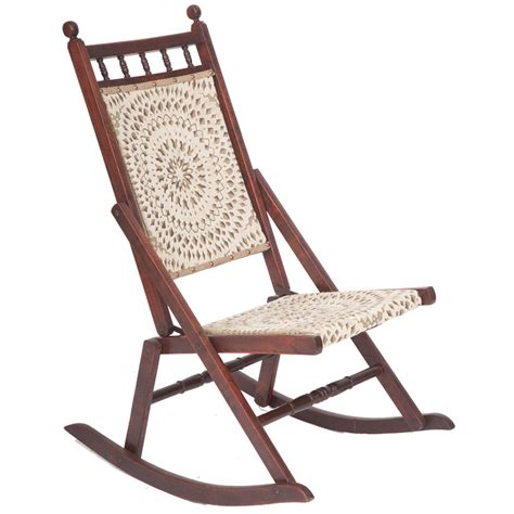 Folding Rocking Chairs by Beautiful Edwardian Antique Folding Rocking Chair The