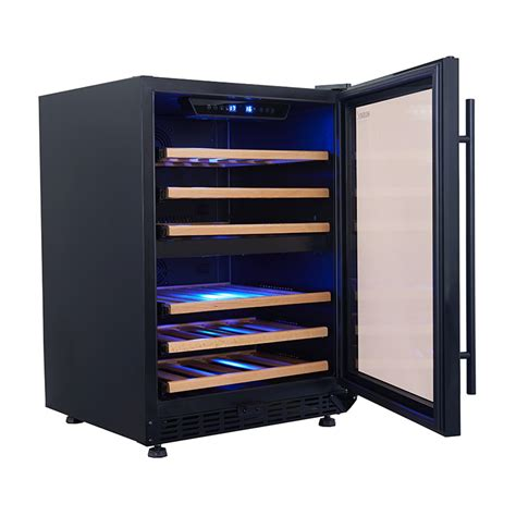 under bench fridge husky vino pro triple uv glazed dual zone wine