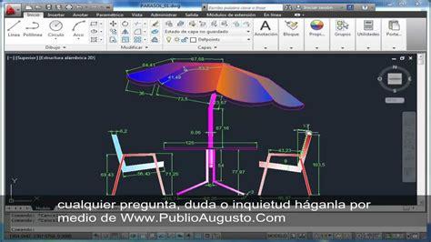 tutorial youtube autocad tutorial autocad 2d parasol 8 de 8 youtube