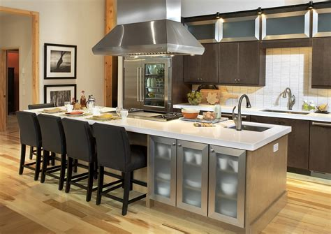 kitchen island with sink and dishwasher and seating black
