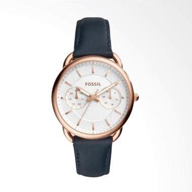 Jam Tangan Fossil Chrono Otb Leather Navy Gold Fashion Wanita Murah jual fossil es4260 jam tangan wanita leather