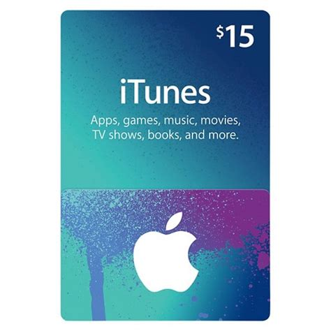 Itunes Electronic Gift Card - 15 itunes gift card target